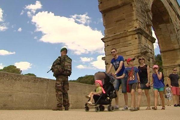 30 légionnaires pour assurer la lutte anti-terrorisme au Pont du Gard - août 2016