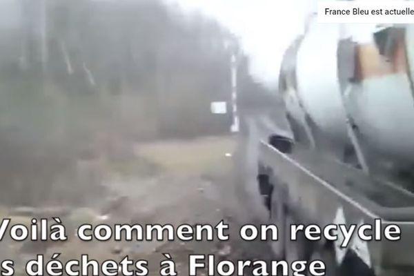 Capture d'écran de la vidéo postée sur Youtube par le chauffeur de camion.