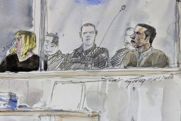 Cécile Bourgeon et Berkane Makhlouf lors du premier jour du procès devant la cour d'assises du Puy-de-Dôme où ils comparaissent pour la mort de Fiona, 5 ans - 14 novembre 2016
