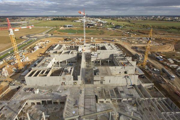 Le chantier du nouveau data center d'Amilly, dans l'Eure-et-Loir.