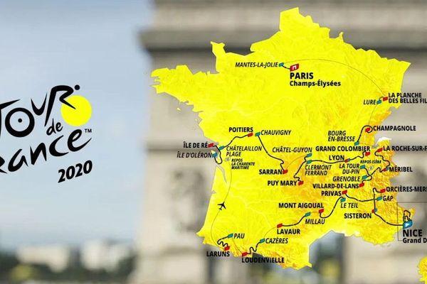 Le tracé du Tour de France 2020.