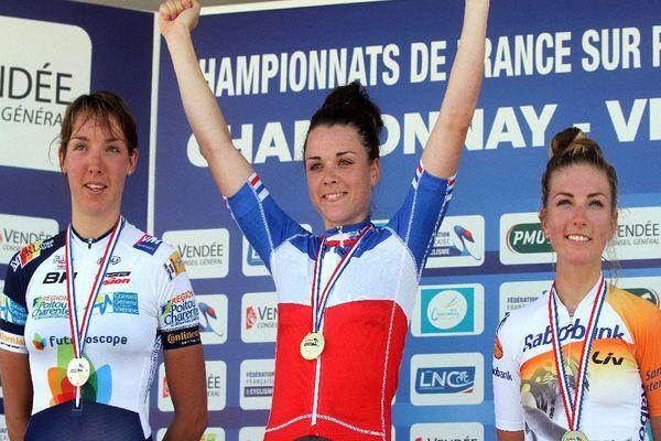 Championnats de France de Cyclisme sur Route en juillet 2015 - Aude Biannic, Audrey Cordon Ragot et Pauline Ferrand Prevot