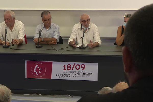 En marge de cette Ghjurnata Internaziunale, une conférence sur la création d'un CHU dans l'île s'est déroulée en ce samedi matin à Corte.