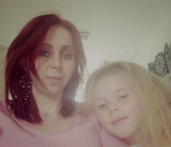 Justine et sa fille Elena.