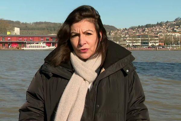 Anne Hidalgo à Rouen le 11 février 2021