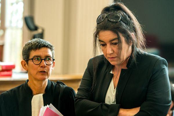 Béatrice Huret et son avocate.