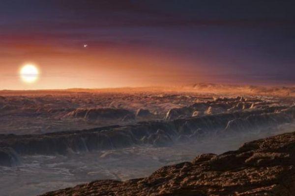 Reproduction artistique de la planète Proxima b, la plus proche de notre système solaire, publiée par l'Observatoire européen austral le 24 août 2016