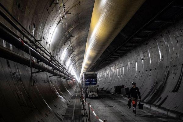Sur le chantier du tunnel entre les vallées de la Maurienne et de Suse, en Italie.