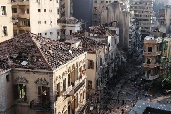 Le quartier chrétien d'Ashrafieh a été entièrement dévasté par le souffle de l'explosion