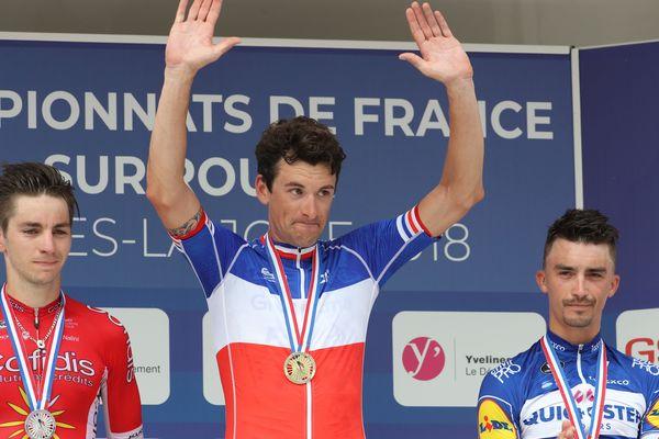 Anthony Roux, champion de France de cyclisme sur Route, le 1er juillet 2018.