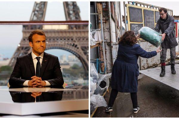 """Emmanuel Macron s'est exprimé dimanche soir sur la question du """"délit de solidarité""""."""