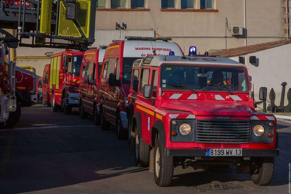 Six véhicules de secours du Bataillon des Marins Pompiers de Marseille ont été envoyés au Liban