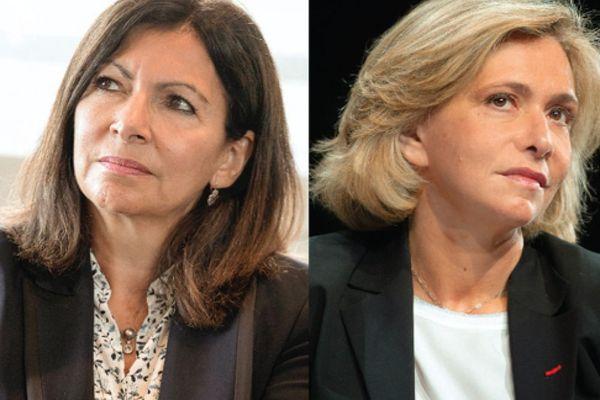 La maire de Paris Anne Hidalgo (à gauche) et la présidente de la région Île-de-France Valérie Pécresse (à droite). AFP - E. TSCHAEN/RÉA