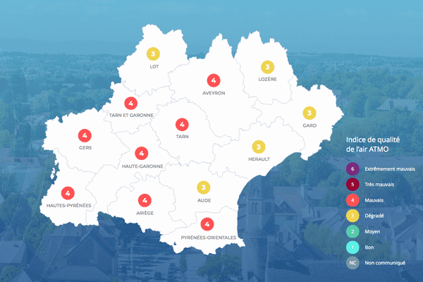 La région Occitanie va connaître une nouvel épisode de pollution.