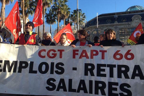 Perpignan - manifestation contre la réforme des retraites - 9 janvier 2020.