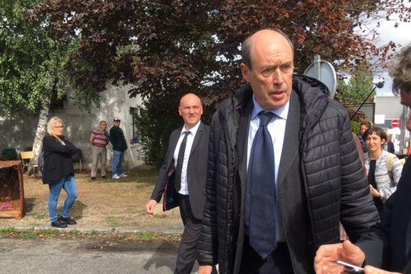 Le nouveau propriétaire du site GM&S, alain Martineau, arrive à La Souterraine
