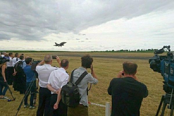 Répétitions de l'armée de l'air sur la Base aérienne de Châteaudun (Eure-et-Loir) - 27 juin 2017