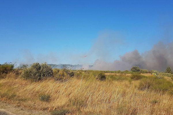 Sigean (Aude) - incendie en cours - 6 septembre 2017.