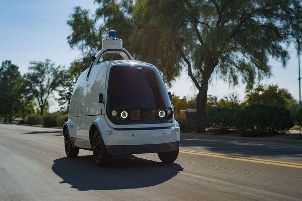11 Février 2019. Une voiture autonome sur une route de l'Arizona aux Etats-Unis.