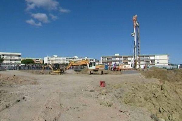 Balaruc (Hérault) - lancement de la construction des nouveaux thermes - 12 octobre 2012.