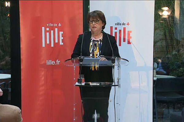 Martine Aubry faisait ses voeux à la presse ce jeudi, à Lille.