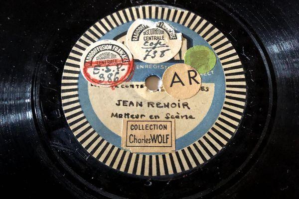 Enregistrement de Jean Renoir.