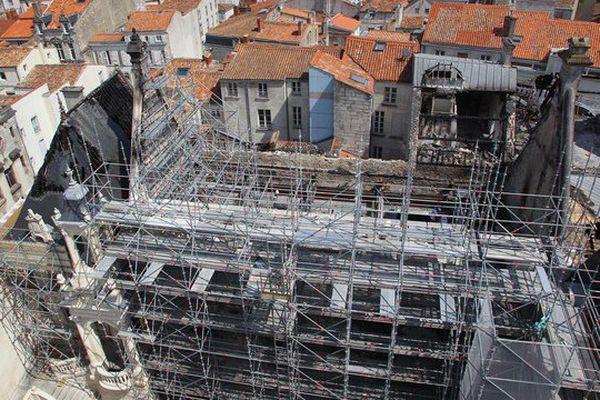 Le chantier de restauration de l'Hôtel de Ville de La Rochelle