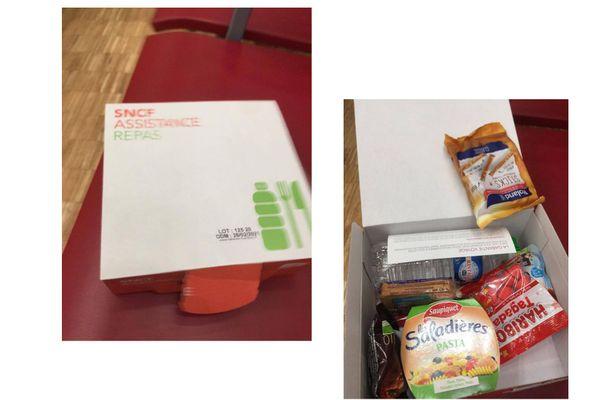 29 décembre 2020 : distribution de repas en gare de Lisieux