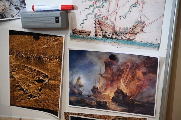 Au large de Brest, des recherches pour tenter de retrouver les épaves de La Cordelière et du Regent