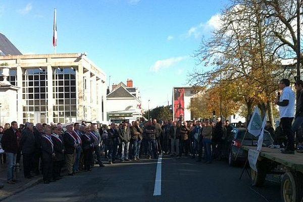 Manifestation des agriculteurs à Blois