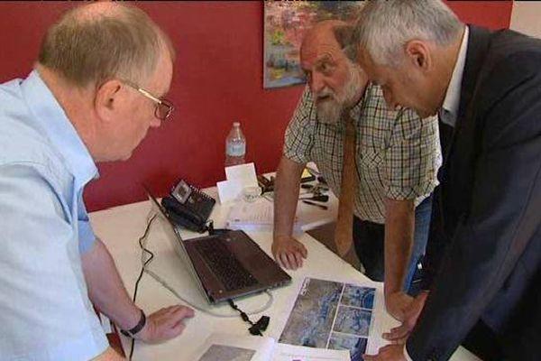 Les maires des trois communes concernées le 4 juin dernier à Sigolsheim