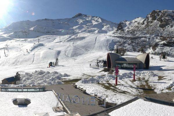Le domaine de ski de Piau Egaly (65) le 20 novembre 2017
