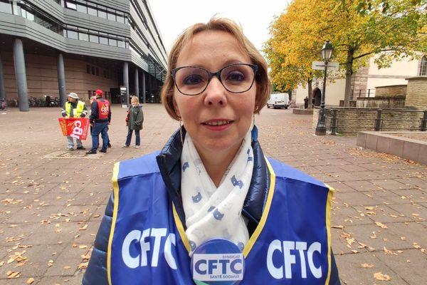 Sabine Lebrun, aide-soignante, représentante CFTC.