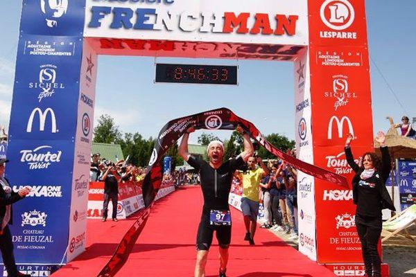 """Le Charentais de 41 ans, Frédéric Durand, remporte la 4ème édition du E.LECLERC FRENCHMAN en 8h46'30""""."""