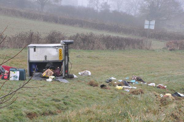 Accident de bus sur la RCEA, le 8 janvier 2017.