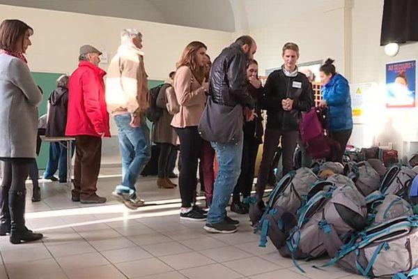 150 sacs à dos ont été distribués aux sans-abris ce mercredi à Montpellier - 28 décembre 2017
