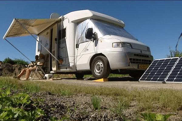 Des camping-caristes sont en Limousin depuis le week-end des 2 et 3 juillet afin d'avoir les meilleures places pour voir les oureurs du Tour