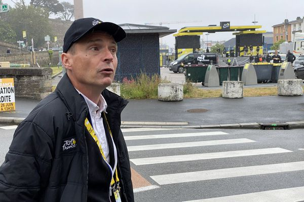 Yannick Goasduff, est responsable des départs du Tour de France depuis 2004