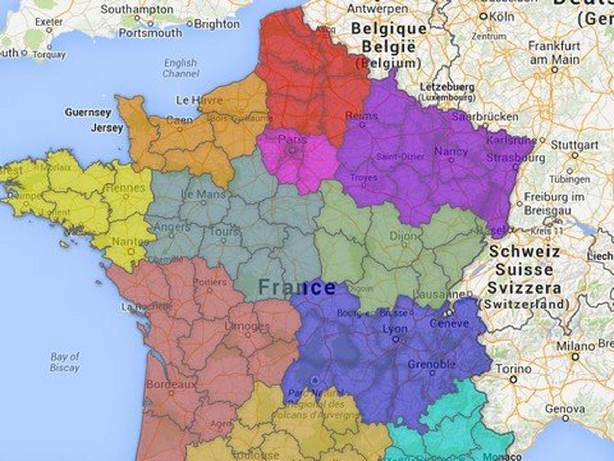 Carte Voici A Quoi Ressemblerait La France A 12 Regions Avec Un Grand Nord Pas De Calais