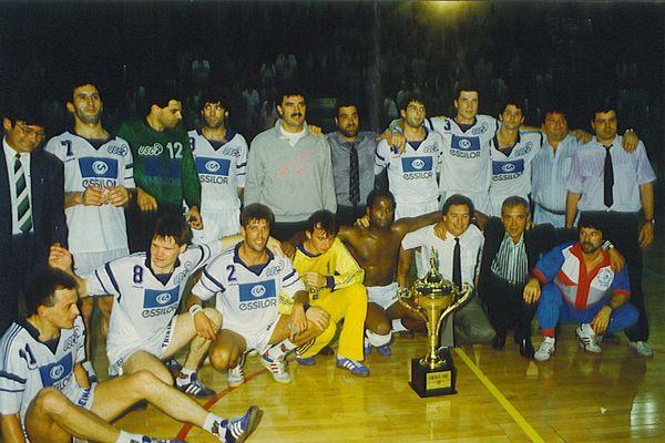 1989, l'US Créteil handball remporte le Championnat de France. Photo fournie par l'USCHB.
