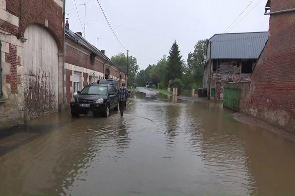 Inondations à Chaourse dans l'Aisne.
