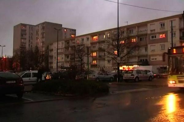 Le quartier des Champs Plaisants à Sens, vendredi 20 novembre, en fin d'après-midi