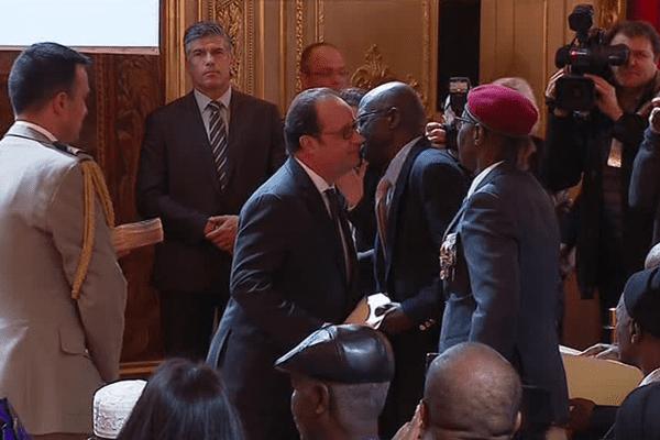 28 tirailleurs sénégalais sont redevenus français à l'Elysée - 15 avril 2017