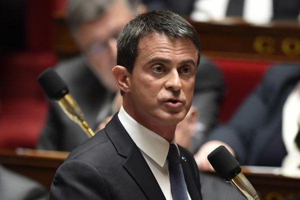 Manuel Valls à l'Assemblée Nationale, le 10 mai 2016.