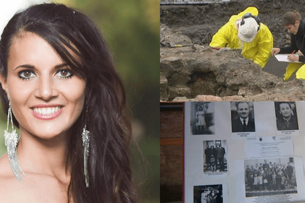 A gauche, Anne-Mathilde Cali, nouvelle Miss Franche-Comté 2014, en haut à droite, les fouilles archéologiques à Grozon, en bas, l'hommage aux Justes.