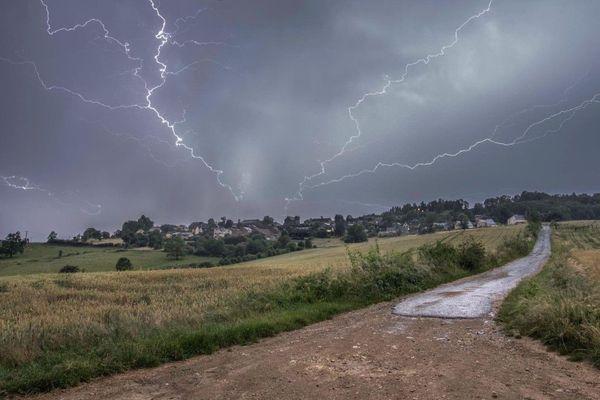 Ciel orageux dans la Marne.