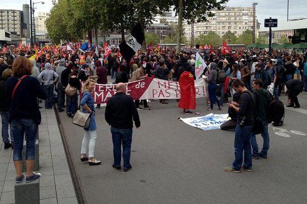 Les manifestants contre la Loi Travail à Rennes le jeudi 15 septembre 2016