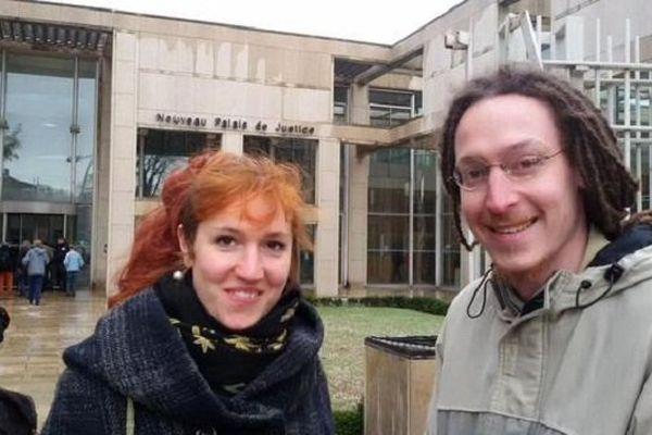 Léa et Adrien, deux des trois prévenus étaient présents à l'audience - 3 février 2015