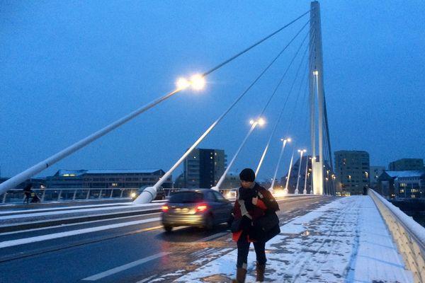 Le pont Tabarly à Nantes, février 2018