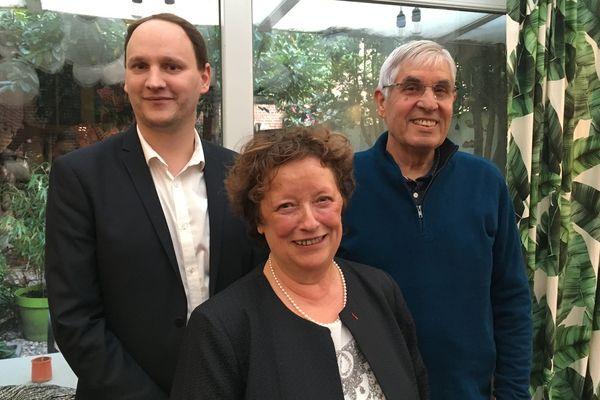 Brigitte Fouré brigue un deuxième mandat à la Mairie d'Amiens. De gauche à droite : Fabien Hecquet, Brigitte Fouré et Alain Bacro